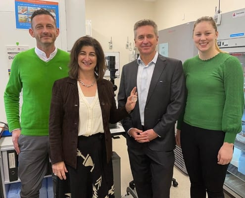 Sharn Dowsett (Manager, Clinical Governance & Quality – NSW OTDS) Danielle Fisher (General Manager – NSW OTDS), Professor Gerard Sutton, Amy Deller (Manager, Clinical Govern